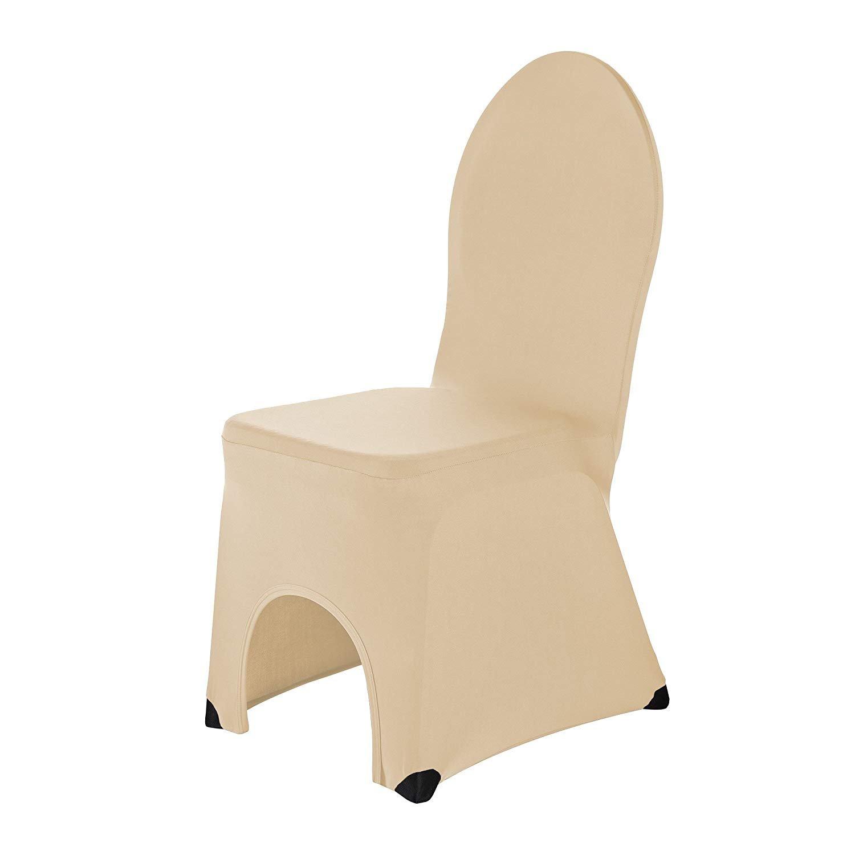 SCHEFFLER HOME Stretch Banquet Chair Covers Bella Champagne